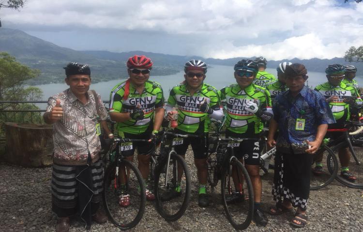 Balap Sepeda Grand Fondo New York (GFNY) Bali 2018 Melintas di Kawasan BUGG
